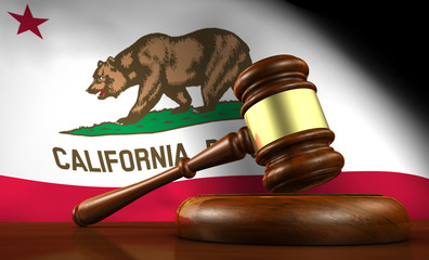 California Law Legal System Concept Wall mural