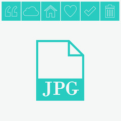 JPG file icon. Vector.