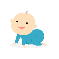 little cute baby smiling illustration