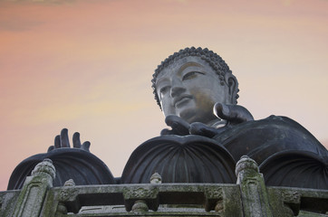 Big Buddha at Ngong Ping Lantau Island