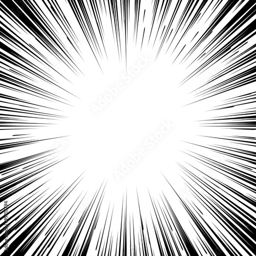 quotcomic book black and white radial lines background square
