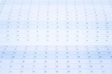 Organizer calendar template paper up close