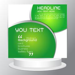 Background Modern abstract vector design green Brochures flyers