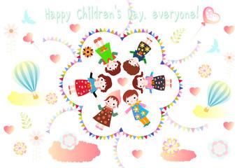 Children's Day Background Vector