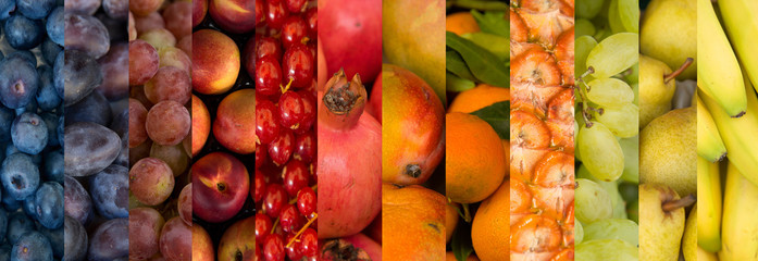 collage of fruits varitety