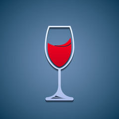 Logo glass of wine.