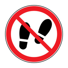 2cce654454b5 No high heel shoes sign warning. Prohibited public information icon ...
