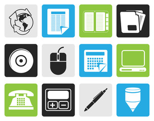 Black Business and Office tools icons  vector icon set 2