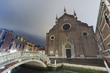 Fototapete - Church Santa Maria Gloriosa dei Frari, Venice, Italy