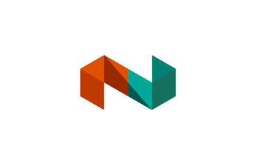 polygon letter n logo