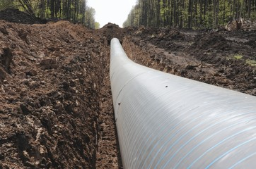 The trench with the pipeline