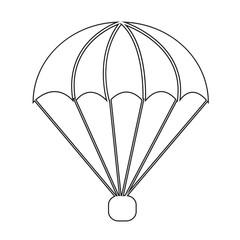 parachute icon Illustration symbol design