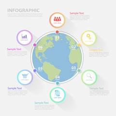 Infographic template for business vision
