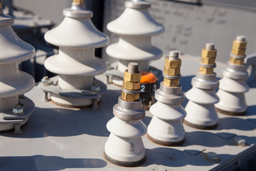 Industrial high voltage converter detail close up image
