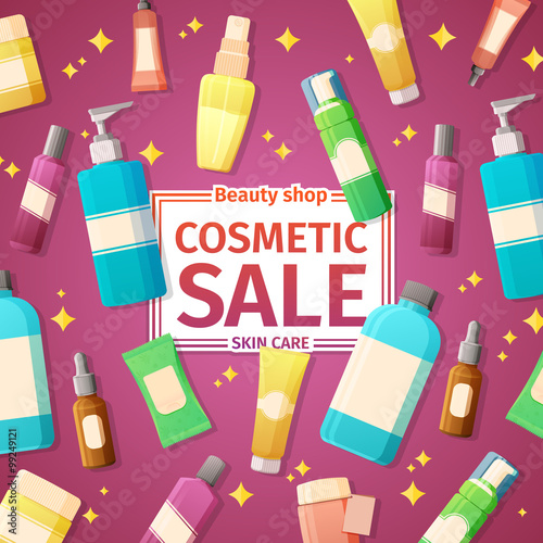 Design posters, brochures and banners on the sale of cosmetics ...