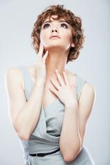 Fashion snapshot style female portrait.