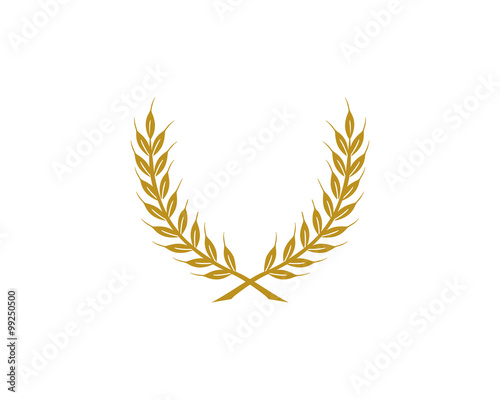 """gold Laurel Wreath Logo Icon 1"" Stock Image And Royalty"
