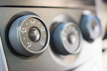 Car air conditioning control panel selective focus
