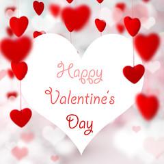 Valentine Hearts Background.