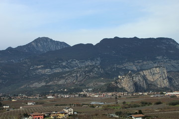 panoramic view of Torbole and Lake Garda