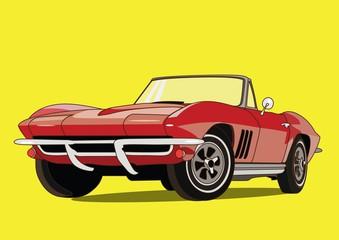 retro, vintage, sport car