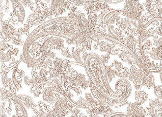 Paisley pattern on white background