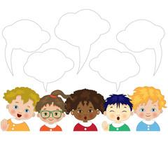 Bambini con Fumetti per Testo
