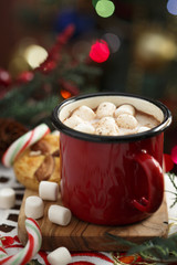 Winter cocoa drink