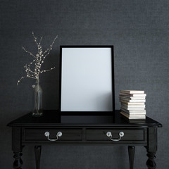 Picture Frame and Decor on Desk in Modern Home