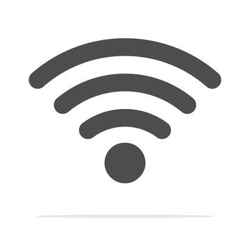 Wireless Icon, vector illustration. Wifi icons With Shadow