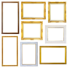 Set photo frame isolated on white background
