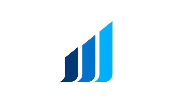 shape line business finance logo