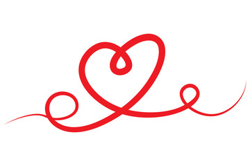 Red Heart, Love and Valentine's Day