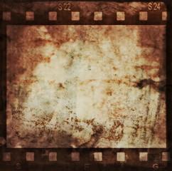 grunge film strip background, illustration design element