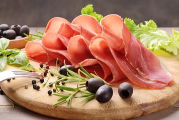 Prosciutto crudo, raw ham