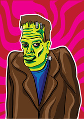 Vector illustration of frankenstein