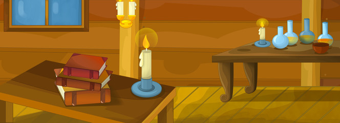 Cartoon background for different fairy tales - illustration for the children