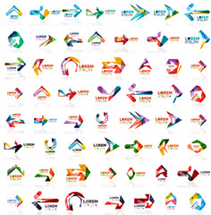 Paper style arrow logos