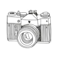 hand drawn vector camera