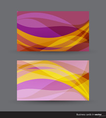 Business cards in two color variation