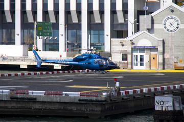 Helicopter pier in Manhattan - New York