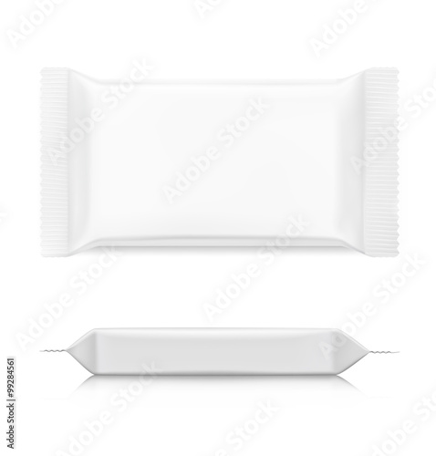 bd65935bbd932 Flow pack with realistic transparent shadows on white background. Vector  template ready for your design.