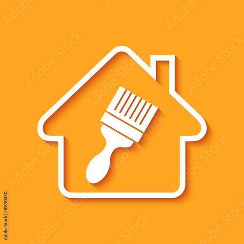 Logo maison et travaux immagini e vettoriali royalty for Abonnement maison et travaux