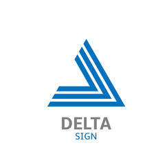 Delta logo sign
