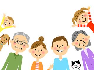 三世代家族 上半身