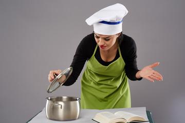 Unhappy woman chef