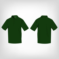 green polo shirt isolated vector