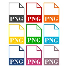 PNG file icons set