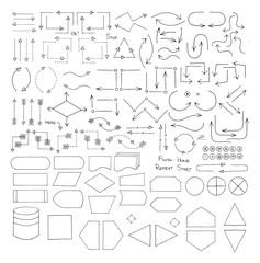 Doodle Flowchart Interface Elements