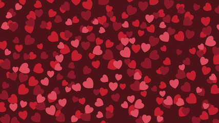 Widescreen heart background. EPS 10 vector illustration.